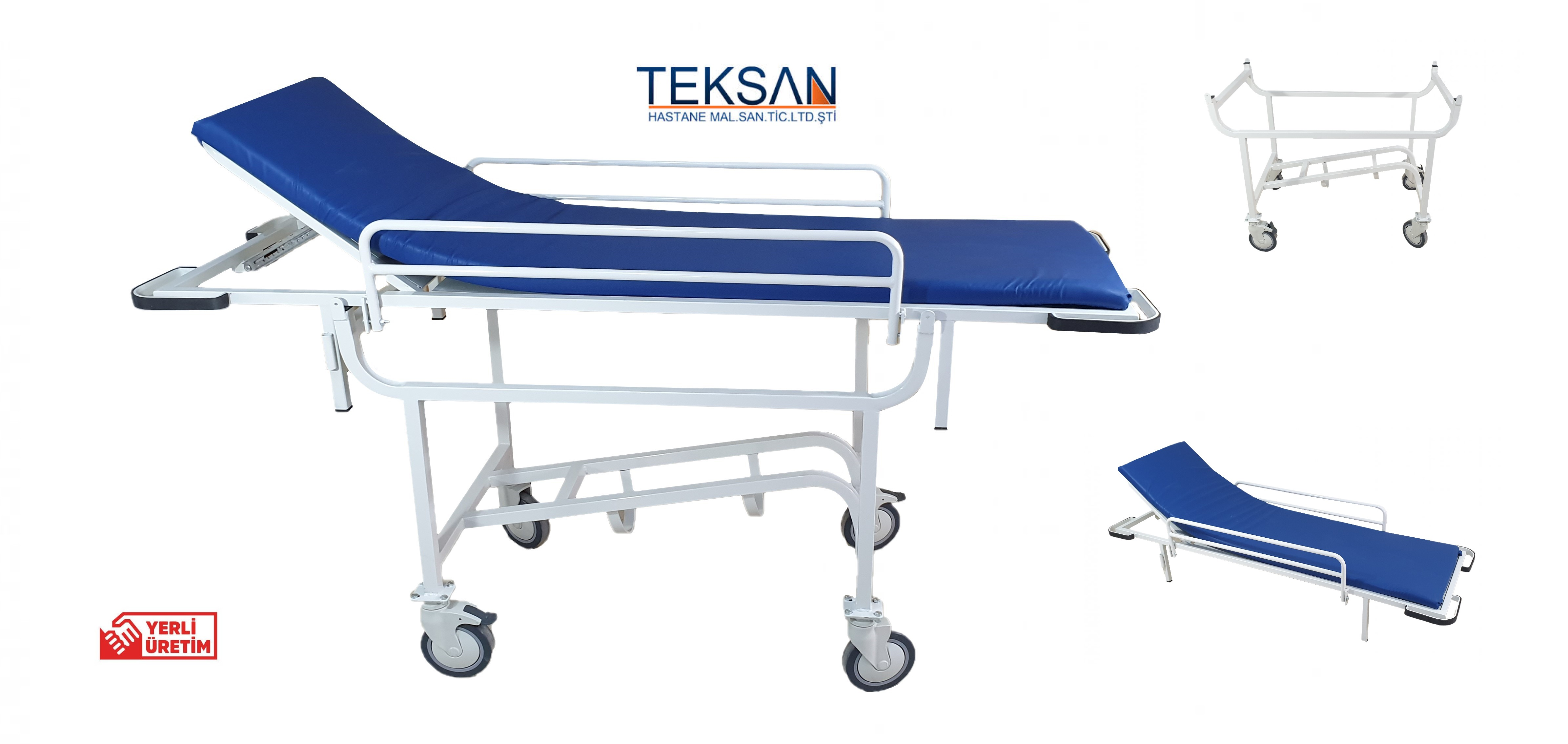 TK-423 hasta taşıma sedyesi (150mm tekerlekli)
